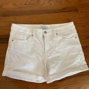 Pants - High Waisted White Shorts